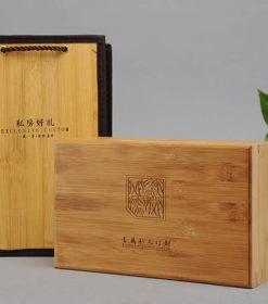 Bambus Holzkiste